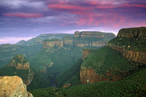 Blyde River Canyon at sunset, Mpumalanga, South Africa. by Danita Delimont