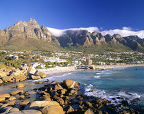 Camps Bay beach and the Twelve Apostles range of mountains i... by Danita Delimont