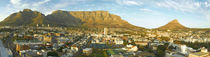 Cape Town cityscape with Table Mountain, Devils Peak and Lio... by Danita Delimont