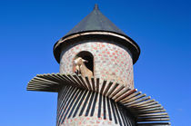 Goat tower at Fairview Winefarm by Danita Delimont