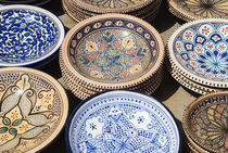 Pottery for sale, Tabarka, Tunisia, North Africa by Danita Delimont