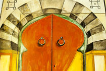 Painted door, Tunisia, North Africa by Danita Delimont