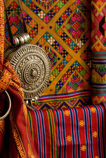 Colorful woven Fabric, Bhutan by Danita Delimont