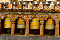 Prayer Wheels, Mani Wheel at Trongsa Dzong, Bhutan. by Danita Delimont
