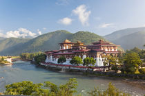 Punakha Dzong or monastery, Punakha, Bhutan by Danita Delimont