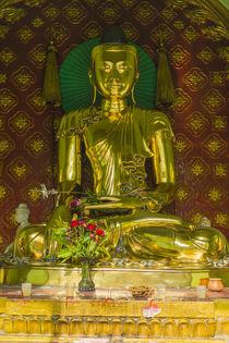Yangon. Sule Pagoda. Golden Buddha. by Danita Delimont