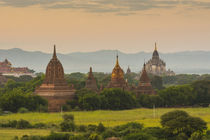 Bagan. Sunset over the temples of Bagan. von Danita Delimont