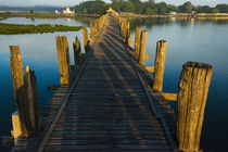 U Bein teak bridge on Taungthaman Lake at sunrise, Citadel P... by Danita Delimont
