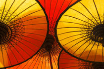 Handmade oriental umbrellas, Bagan, Myanmar by Danita Delimont