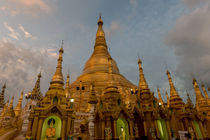 Sunset at Shwedagon Pagoda by Danita Delimont