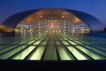 Beijing China, National Grand Theater at night. by Danita Delimont