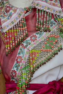 Details and Patterns of some of the Dresses on display at th... von Danita Delimont
