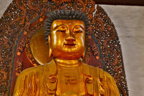 Golden and colorful Buddha at the Jade Buddha Temple in Shan... von Danita Delimont