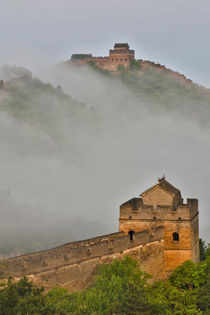 Great Wall of China on a Foggy Morning von Danita Delimont