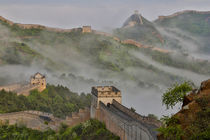 Great Wall of China on a Foggy Morning by Danita Delimont