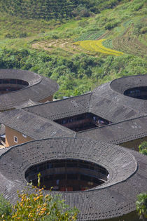 Tianluokeng Tulou cluster, UNESCO World Heritage site, Fujian, China by Danita Delimont
