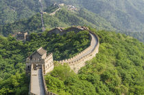 The original Mutianyu section of the Great Wall, Beijing, China. von Danita Delimont