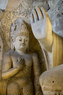 Buddha Caves, Datong, Shanxi Province, China by Danita Delimont
