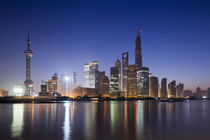 Pudong District Skyline, Shanghai, China by Danita Delimont