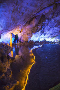 Multi Colored Lights in the Reed Flute Cave von Danita Delimont