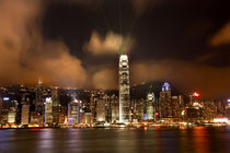 Hong Kong Harbor at Night Lightshow from Kowloon von Danita Delimont