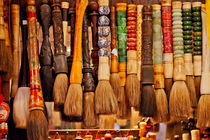 Chinese Colorful Souvenir Ink Brushes Beijing, China by Danita Delimont
