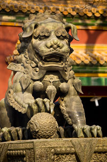 Dragon Bronze Statue Yonghe Gong Buddhist Temple Beijing China by Danita Delimont