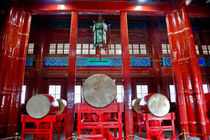 Ancient Chinese Drums Drum Tower Beijing, China von Danita Delimont