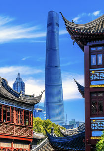 Old New Shanghai China Towers Yuyuan Garden von Danita Delimont