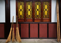 Straw Brooms Wall Windows Baoguang Si Shining Treasure Buddh... by Danita Delimont
