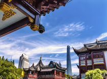 Old New Shanghai China Tower Yuyuan Garden by Danita Delimont