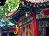 Ancient Roofs Pavilions Lantern Wong Tai Sin Good Fortune Ta... by Danita Delimont