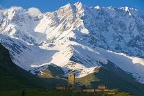 Fortified village of Ushguli, Svanetia, Unesco World Heritag... by Danita Delimont