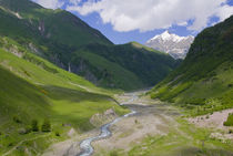 Caucasus mountains along the military road to Kazbegi, Georg... by Danita Delimont