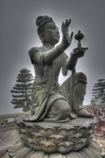 Statues at the Big Budda grounds by Danita Delimont