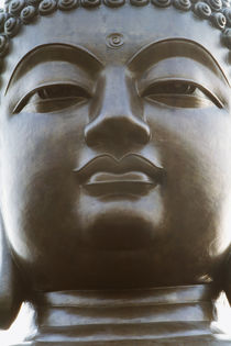 Hong Kong, Po Lin Monastery, Lantau Island, Close-up of Buddha statue. by Danita Delimont