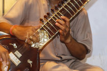 Sitar player, Varanasi, India by Danita Delimont