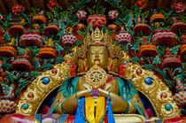 India, Jammu & Kashmir, Ladakh, Stok, large gold Buddha stat... von Danita Delimont