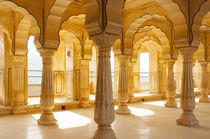 Colonnaded gallery, Amber Fort, Jaipur, Rajasthan, India. by Danita Delimont