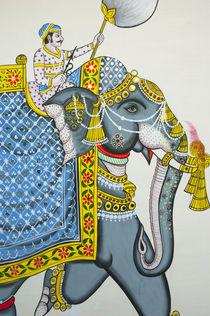 Elephant mural, Mahendra Prakash hotel, Udaipur, Rajasthan, India. by Danita Delimont