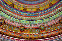 Painted ceiling of Shree Laxmi Narihan Ji Hindu Temple, Jaip... by Danita Delimont