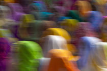 Women in colorful saris gather together, Jhalawar, Rajasthan, India von Danita Delimont