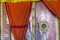 Doorway, Deskit monastery, Ladakh, India by Danita Delimont
