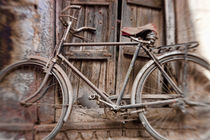 Bicycle in doorway, Jodhpur, Rajasthan, India von Danita Delimont