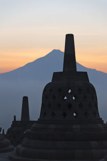 Borobudur at dawn, UNESCO World Heritage site, Java, Indonesia by Danita Delimont