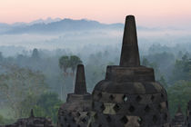 Borobudur at dawn, UNESCO World Heritage site, Java, Indonesia von Danita Delimont