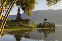 Candikuning Temple, Lake Bratan, Bali, Indonesia by Danita Delimont