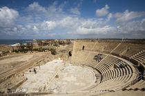 The Theater of Caesarea founded on the shores of the Mediter... by Danita Delimont