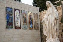 Statue of the Virgin Mary, mother of Jesus Christ, greets pi... by Danita Delimont