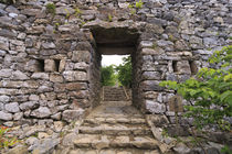 The stone entrance to Nakijin Castle, a 14th Century castle ... von Danita Delimont